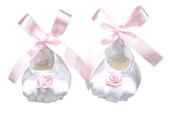 Sapatilhas Branco Balé Cetim Dança Sapatos Para 18 -inch
