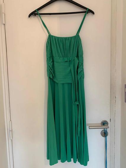 Vestido Mujer De Jersey Drapeado Talle M. Ideal Disfraz