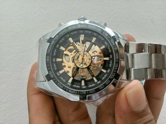 Relógio Forsining Importado Marca Luxo De Aço Inoxidável