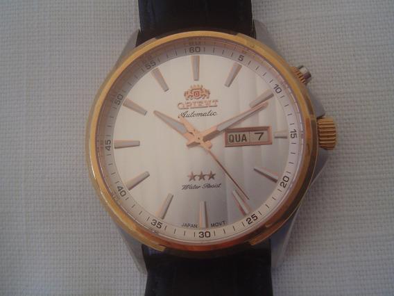 Relógio Orient Automático Couro 41 Mm