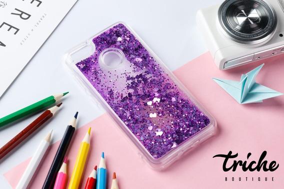 Funda Case Diseño Brillos Pecera Colores Huawei P10 Selfie