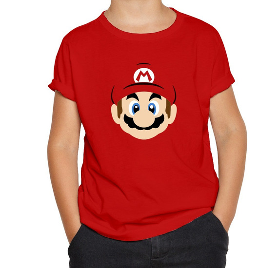 Playera Bota Mario Bros Nintendo Niño Niña