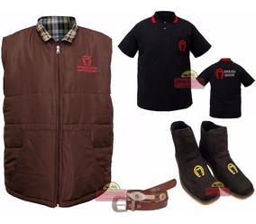 Conjunto Mangalarga Marcahdor Botina Cinto E Camisa Country