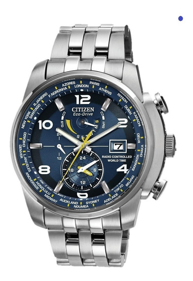 Reloj Citizen World Time Atomic Edicion Azul Limitada