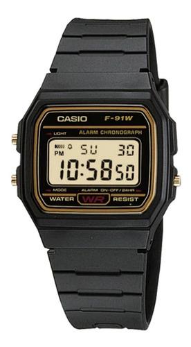 Reloj Hombre Casio  F-91wg-9 Negro Retro / Lhua Store