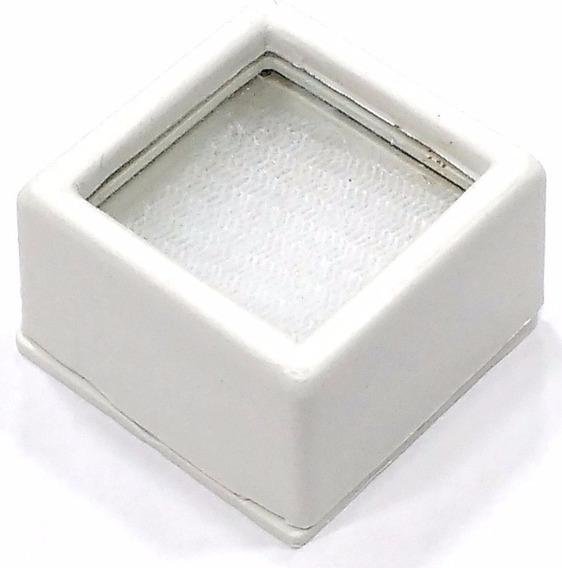 Caixa Plástica 3cm P/ Pedras Lapidadas Jóias Com Visor Vidro