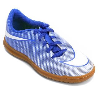Tenis Futsal Nike Bravatax 2 Infantil Azul - Original