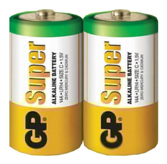 Pilha Alcalina D Grande 1.5v C/ 2un Gp Batteries