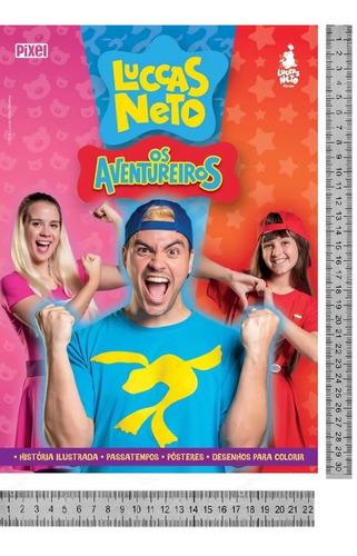 Livro Luccas Neto Em Os Aventureiros Promoção Hoje Novo