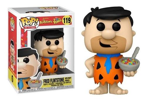 Imagen 1 de 1 de Funko Pop, Fred Flintstone W/ Cereal - 119 Pedro Picapiedra
