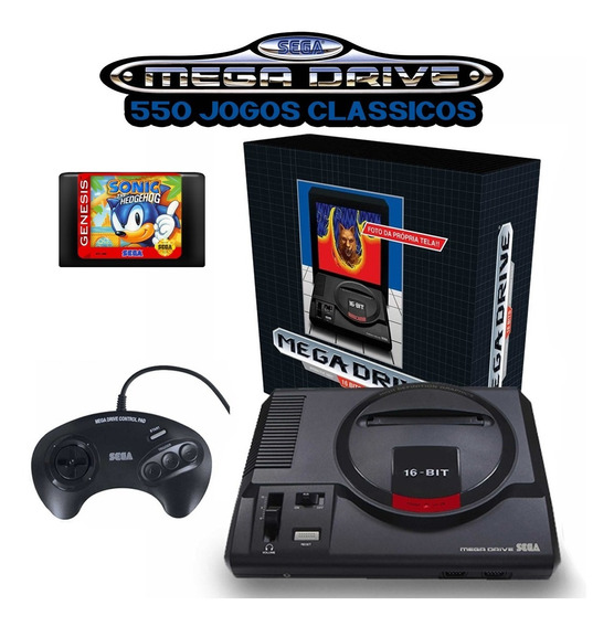 550 Jogos Clássicos E Completos - Sd 32gb Para O Mega Drive Da Tectoy