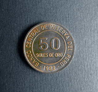 Antigua Moneda Peruana. S/50 Cincuenta Soles De Oro Año 1980