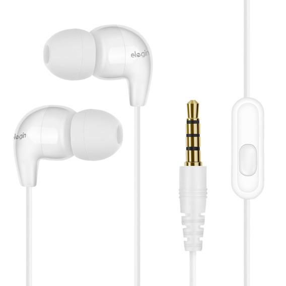 Fone De Ouvido In-ear Elogin Classic Branco -fa01