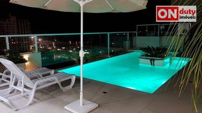 Cobertura De Frente Para A Praia Da Aparecida Com 3 Dormitórios (2 Suítes) À Venda, 150 M² Por R$ 4.500.000 - Santos/sp - Co0170