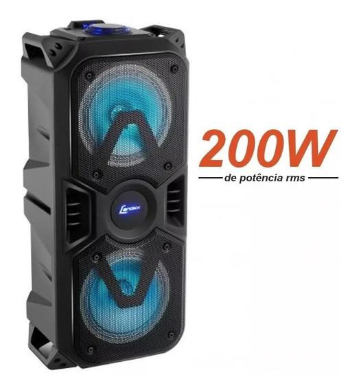 Caixa Som Bluetooth Super Potente 200w Rms Portatil Com Nfe