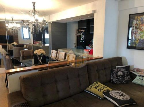 Imagem 1 de 17 de Apartamento Com 3 Dormitórios, 90 M² - Venda Por R$ 850.000,00 Ou Aluguel Por R$ 4.000,00/mês - Vila Mascote - São Paulo/sp - Ap0490