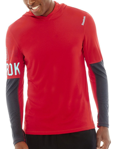 Sweter Reebok Workout Hoodie - Hombres - B86778