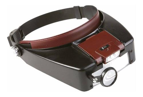 Lupa Binocular Cabeza Vincha Con Luz Led 3 Lentes Aumento 8x Idal Odontologia Cosmetologia Pedicuria