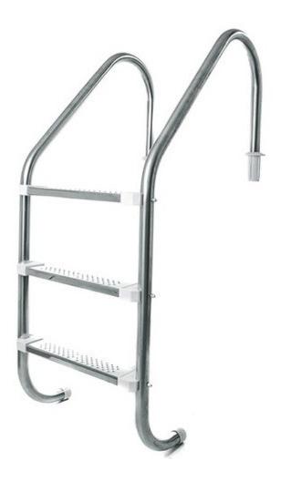 Escada Para Piscina Com 3 Degraus Em Aço Inox