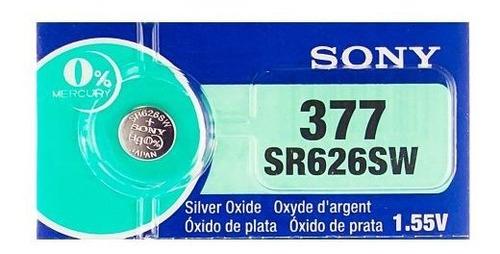 Sony 377 (sr626sw) 155 V 0% Hg Reloj De Oxido De Plata Sin M