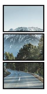 Quadro Decorativo Paisagem Estrada Montanhas Vertical Lindo