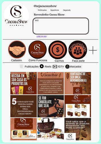 Imagem 1 de 4 de Packcriativo Cacau Show Com 12 Postagens Para Feed