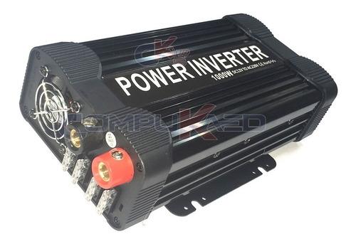 Inversor De Corriente Para Auto 1000w De 12v A 220v C/ 2 Usb