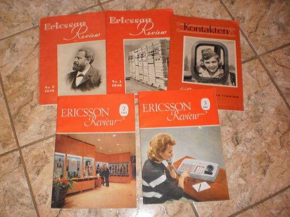 Cinco Antigas Revista Eletronica Da Ericsson