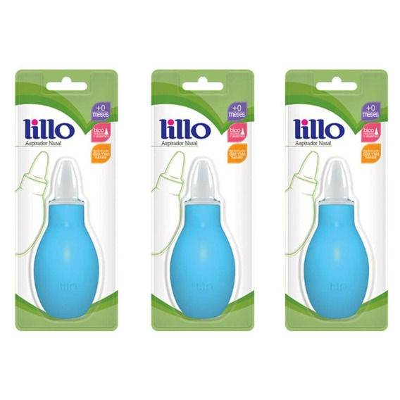 Lillo 654120 Aspirador Nasal Azul (kit C/03)