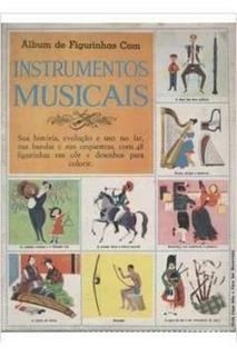 Álbum De Figurinhas Com Instrumentos Musicais - Completo