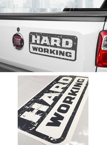 Adesivo Decorativo Fiat Strada Hard Working Mod 2018 Grafite