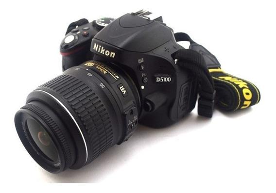 Camera Nikon D5100 16mp. Full Hd+lente 18-55 Perfeita