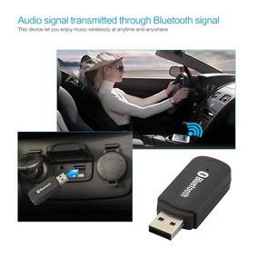 Bluetooth 2 Em 1 Usb Dongle De Áudio Música Receiver 3.5mm