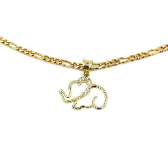 Dije Elefante Oro 10k + Cadena Regalo   Envío Gratis