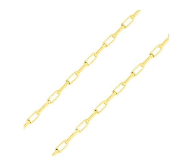 Corrente De Ouro 18k Cartier 50cm Tijolinho 5g- Viagold O100