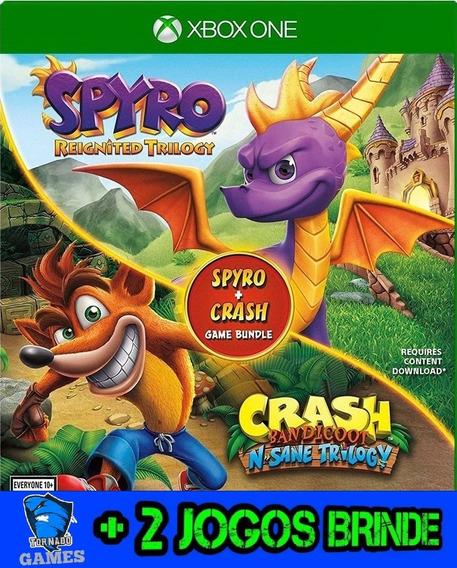 Crash Bandicoot Trilogy + Spyro - X Box One - Midia Digital