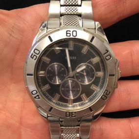 Relógio Guess Masculino Original Pulseira Extra De Couro