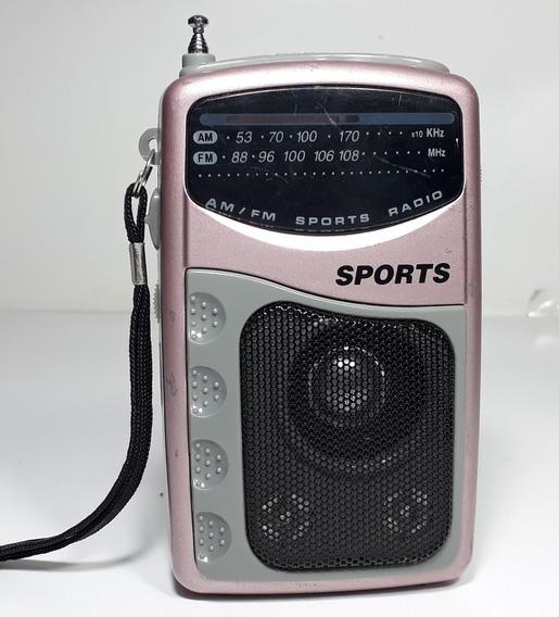 Rádio Portátil Sports Pr-35m-funcionando.