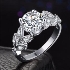 Anel Feminino De Noivado Compromisso Ouro Rose Ou Prata