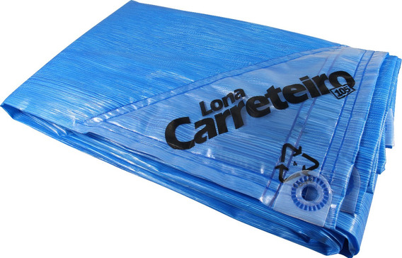 Kit 2 Lona Capa Carreteiro 4x3 Azul Reforçada Multiuso