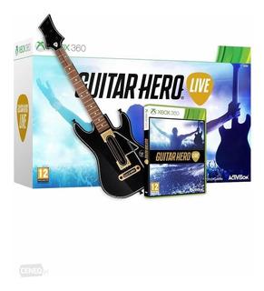 Guitar Hero Live Xbox 360 Guitarra + Juego Nuevo Sellado