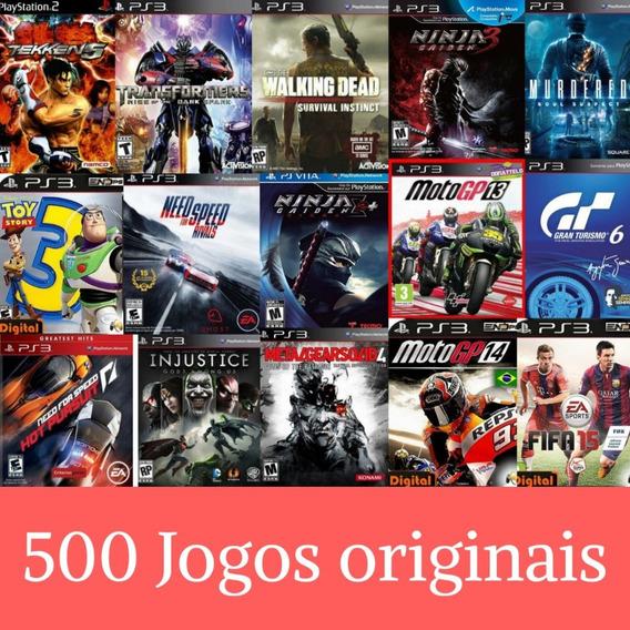 Pacote De 500 Jogos De Ps3 + Brinde - Leia A Descrição