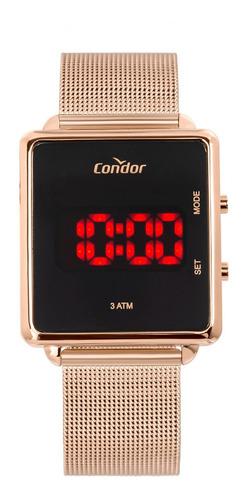 Relógio Condor Feminino Cobjs31bab/4j Rose Led