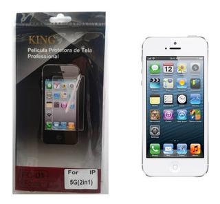 2 Películas Protetora De Tela Para iPhone 5 / 5c / 5s / 5g Frente E Verso + Flanela - Fosca Ou Invisível / Plástico