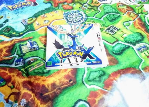 Pokemon X Version Com Mapa E Luva - 3ds - Usado / Impecável