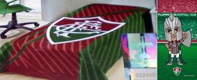 Colcha Solt Pique + Toalha Banho Futebol Fluminense Oficial