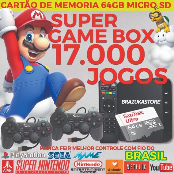 Super Game Box Retro Brazuka Store 2019 Muti Games 64 Gb Com Wi-fi