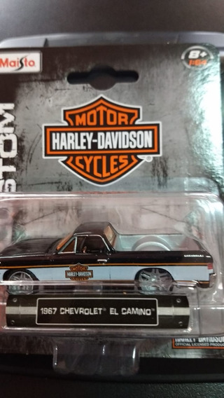 Miniatura Chevrolet El Camino 67 Harley Davidson 1:64 Maisto