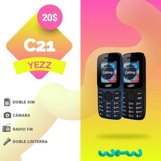 Telefono Yezz C21 Negro Dual Sim Liberado Doble Linterna