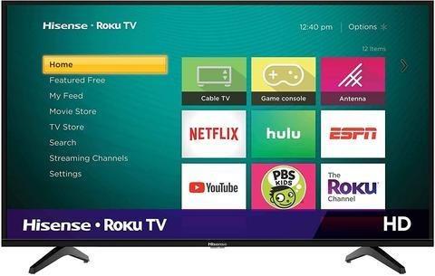 Imagen 1 de 1 de Televisor Hisense 43  Hd Smart Tv Roku Tv Usb Hdmi